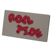 """Kids Wooden Puzzle, Puzzles For Kids Alabama """"Roll Tide"""" Peg Puzzle Gray Base"""
