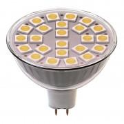 24 LED 4W MR16 LED žiarovka reflektorová teplá biela