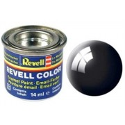 Revell 32107 RAL 9005 - Bote de pintura (14 ml), color negro brillante