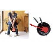 Spatola Rock a forma di Chitarra elettrica ROSSA