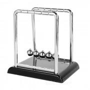 Desk Ornament Creative Stainless Steel Newton's Cradle Balance Balls Toy - Black + Silver