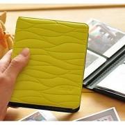 Woodmin Colorful Leaf Pattern Instax Mini Album Fuji Instax Mini Book Album For instax mini7s 8 25 50s 90 Film---Lime