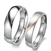 Anéis Amor / Coração Aniversário / Noivado / Casamento / Pesta / Diário Jóias Aço Inoxidável Casal Anéis de Casal 1 par,5 / 6 / 7 / 8 / 9