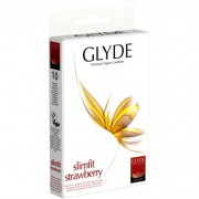 Glyde Ultra Slimfit Strawberry - 10 Stück - Kondome - Kosmetik