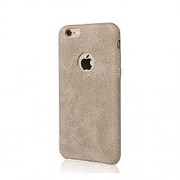 Cables Kart Series Soft PU Leather Back Case Cover for Apple iPhone 6 6S - Beige / Light Brown