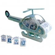 Expositor Helicoptero Baby Azul + 16 Cajitas Baby
