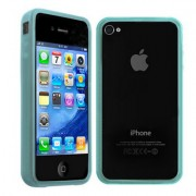 Bumper silicone pour iPhone 4 / iPhone 4S (Anti signal faible) - Bleue