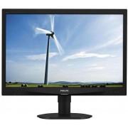 "Monitor IPS LED Philips 24"" 240S4QYMB, WUXGA (1920x1200), VGA, DVI, DisplayPort, Boxe, Pivot, 5 ms (Negru)"