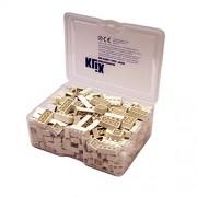 Q-Bricks Unicolor básico Building Blocks Piccolo Box (300-Piece, blanco)
