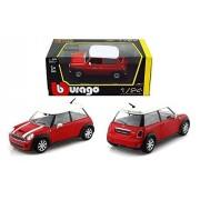 Bburago 1:24 W/B Mini Cooper S Diecast Car Model Red Color