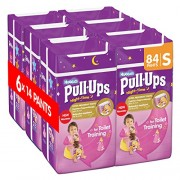 Huggies Pull Ups Night Time Potty Training Pants for Girls - Small, 84 Pants Total