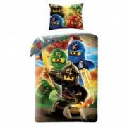 Lenjerie de pat copii Cotton LEGO Ninjago LEG374BL