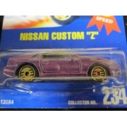 Nissan Custom Z 1994 Hot Wheels Gold Medal Speed #234 Purple with Golden HOT Ones on Solid Blue Card by Hot Wheels