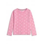 Розова блузка с дълъг ръкав на звездички