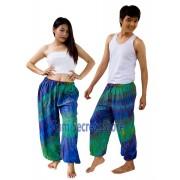 Real Tie dye Pants Blue Hippy Harem Unisex Trousers Best Quality