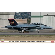 """Hasegawa 1: 72 Scala """"F/A-18 F Super Hornet vfa-11 Rosso Rippers Cag"""" Model Kit"""