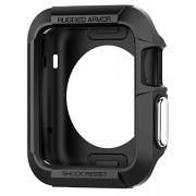 Spigen Rugged Armor Apple Watch Case with Resilient Shock Absorption and 2 Screen Protectors Included for 42mm Apple Watch Series 2 / 1 / Original (2015) - Black