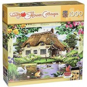 MasterPieces Puzzle Company Flower Cottages Swan Cottage Jigsaw Puzzle (1000-Piece) Art by Howard Robinson