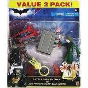 The Dark Knight - 2008 - Batman - Battle Cape Batman vs Destructo-Case The Joker - Value 2 Pack - Cape Lights Up - Limit