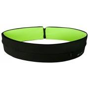"""Fit - Cinturón Reversible - Fitness - gimnasio - Cinturón de running - viaje - Riñonera - adecuado para todos los teléfonos móviles también incluye Clave/cadena de anillo., Green, 28""""-31"""""""