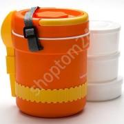 Термос пищевой состоит из 6 предметов, объем 2,4 литра
