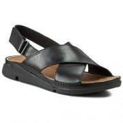 Clarks Sandały CLARKS - Tri Alexia 261155954 Black Leather