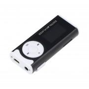 ER Mini USB Clip MP3 Media Player LCD Soporte De Pantalla De 16 GB Micro SD TF De Luz LED Negro.