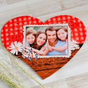 Szív alakú kockás fényképes puzzle, 120db