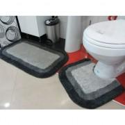 Set prostirki za kupatilo M-01 Primo sivo-crne