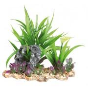 Decor Plante Din Plastic In Pietris 18cm 89302