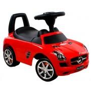 Baby Mix Mercedes lábbal hajtható zenélő és világító autó gyerekeknek piros színben