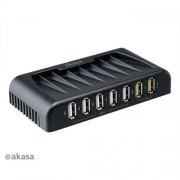 AKASA AK-HB-12BK 7-portový externý USB 2.0 HUB