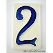 Numero civico ceramica piccolo nc202