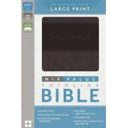 NIV, Value Thinline Bible, Large Print [Charcoal/Black] by Zondervan