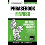 English-Finnish Phrasebook and 1500-Word Dictionary by Andrey Taranov