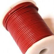 Cordon cuero burdeos 2mm (precio por 50 cm )