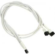 Cablu adaptor Y Nanoxia 3-pini Molex, 60cm, white/black