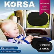 Car Sunshades Protector (2 Pack) For Rear Side Door Window - Protect Kids Children Pets Dogs Cats In The Back Seat From Harmful Sunlight Glare Heat Filter And Block 97% Of Uv Rays- Easy To Install