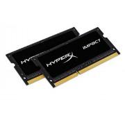 HyperX Impact HX316LS9IBK2/8 RAM 8GB 1600MHz DDR3L CL9 SODIMM (Kit de 2) 1.35V