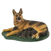 Safari Ltd Best in Show - German Shepherd With Puppies - Realistic Hand Painted Toy Figurine Model - Quality Constructio