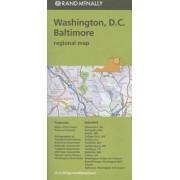 Folded Map Washington DC Baltimore MD Regional by Rand McNally