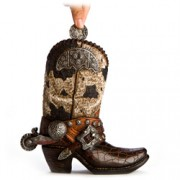 Cowboy Boot Money Bank