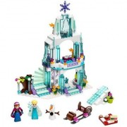 Princess Sparkling Crystal Ice Castle Doll House Block Set toy for kids