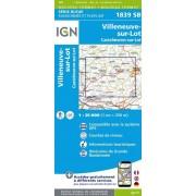 Wandelkaart - Topografische kaart 1839SB Villeneuve sur Lot - Castelmoron sur Lot | IGN