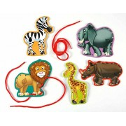 2 Sets ZOO ANIMAL Lace & Learn Cards (10 Total) Fine Motor Skills Lacing - SENSORY - LION Elephant Zebra SCHOOL Activity