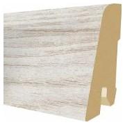 Plinta MDF Egger 60x17 mm, 2,4 m, culoare Stejar alb Cottage