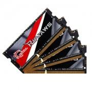 Memorie G.Skill Ripjaws DDR3L SO-DIMM 32GB (4x8GB) 1866MHz 1.35V CL11 Dual Channel Quad Kit, F3-1866C11Q-32GRSL