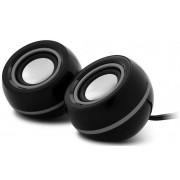 Boxe CNR-FSP01, 2.0, mini, 6W RMS, Negre