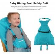 ER El Bebé Lactante Portátil Almuerzo De Comedor Del Cinturón De Seguridad Del Asiento Silla Baby Care Mazo - Azul