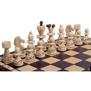 The Rakh Chess Set Handmade Wooden Chess Pieces Chess Board & Chess Piece Storage Board Game ChessCentrals Carpathian